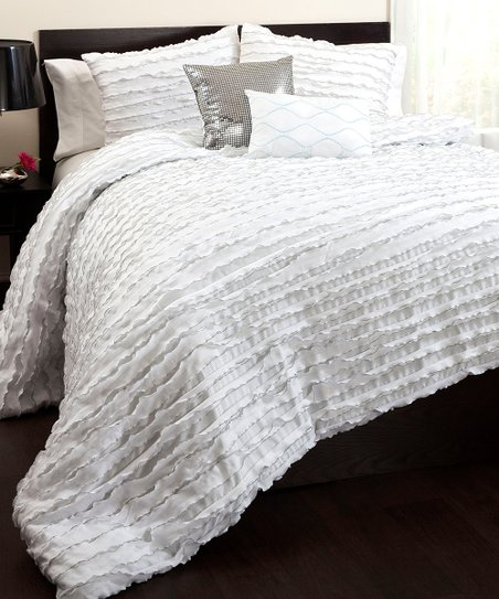 White Modern Chic Comforter Set