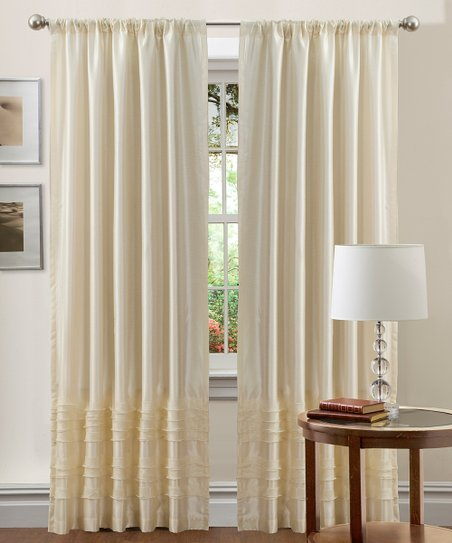 Ivory Paloma Curtain Panel