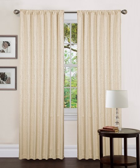 Beige Zebra Thermal Curtain Panel