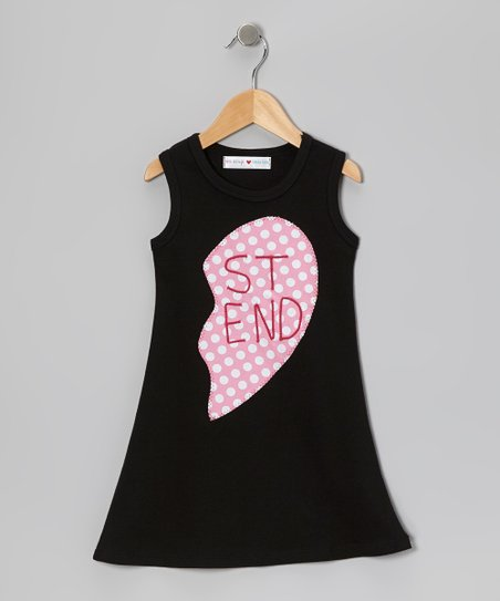 Black & Pink 'St End' Heart Dress - Infant, Toddler & Girls