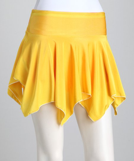 Orange & Yellow Reversible Tennis Skirt & Shorts