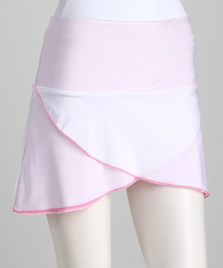 White & Pink Reversible Tennis Skirt & Shorts