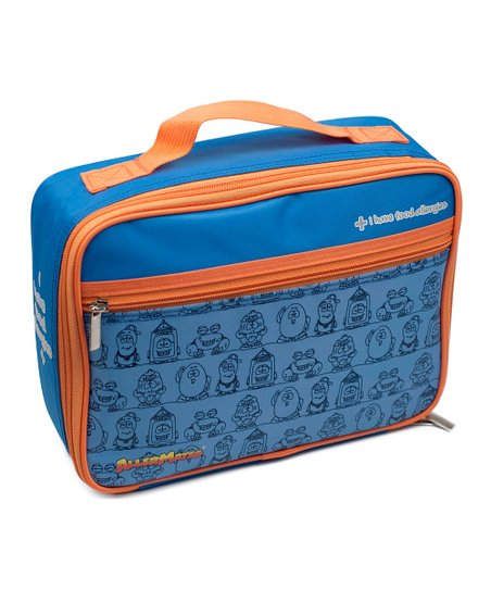 Blue 'I Have Food Allergies' Lunch Bag