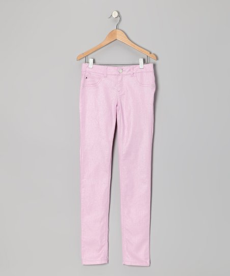 Rose Glitter Skinny Jeans - Toddler & Girls