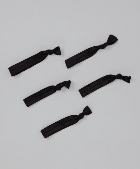 Solid Black Hair Tie Set