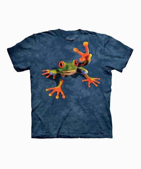 Blue Victory Frog Tee - Toddler, Kids, Adult & Plus