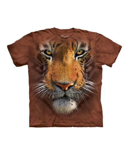 Brown Tiger Face Tee - Toddler, Kids, Adult & Plus