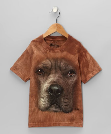Brown Pitbull Tee - Toddler & Kids