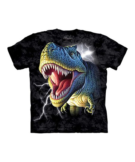 Black Lightning T-Rex Tee - Toddler & Boys