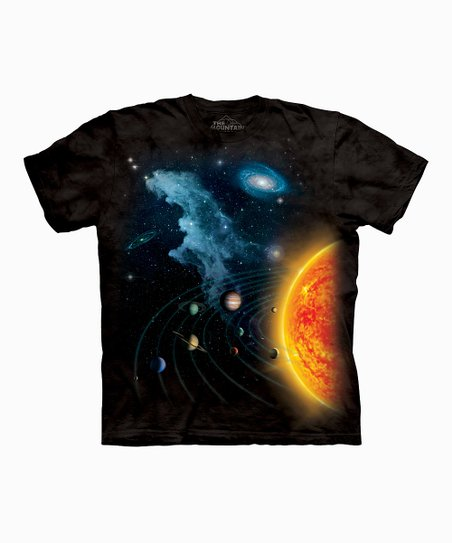 Black Solar System Tee - Toddler & Kids