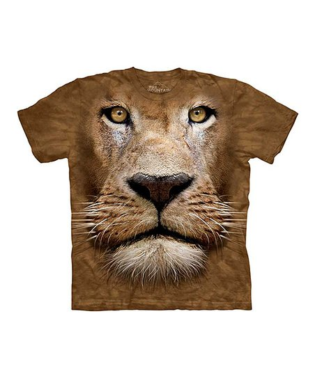 Brown Lion Face Tee - Toddler, Kids, Adult & Plus