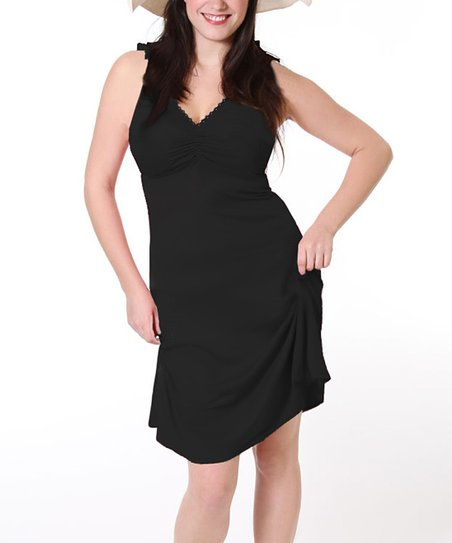 Black Maternity & Nursing Dress