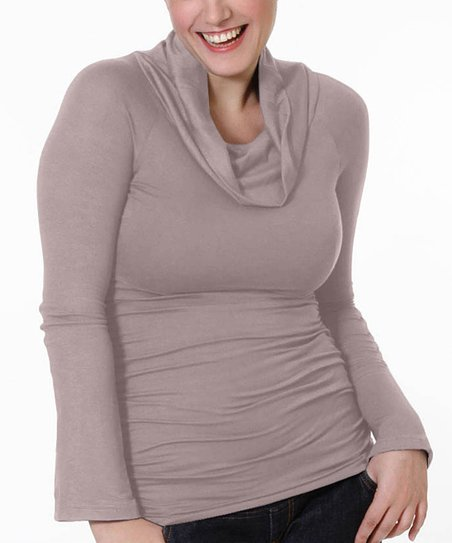 Makeup Maternity & Nursing Cowl Neck Top - Women
