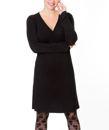 Black To Tie For Maternity & Nursing Dress - Women