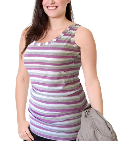 Purple Sparkle Classic Maternity & Nursing Tank - Women