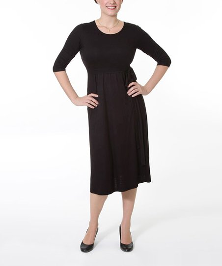 Black Rodest Maternity &amp; Nursing Dress - Women