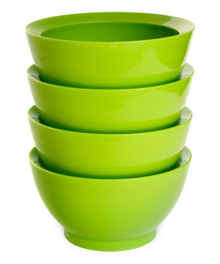 Green 20-Oz. No-Spill Smart Lip Bowl - Set of Four