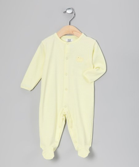 Yellow Stripe Duck Footie - Infant