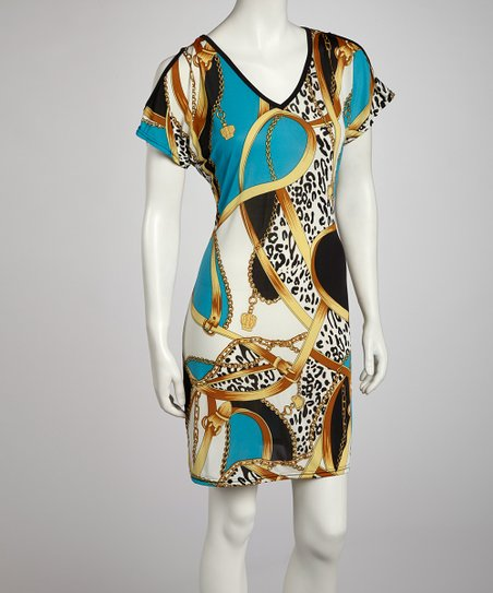 Turquoise Status Cutout Dress - Women