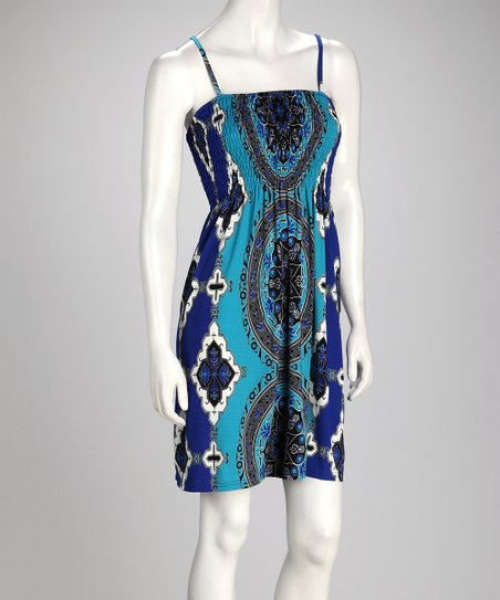 Blue Embellished Sundress