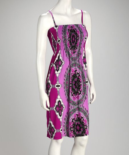 Purple Embellished Sundress