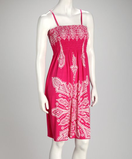 Fuchsia Arabesque Dress