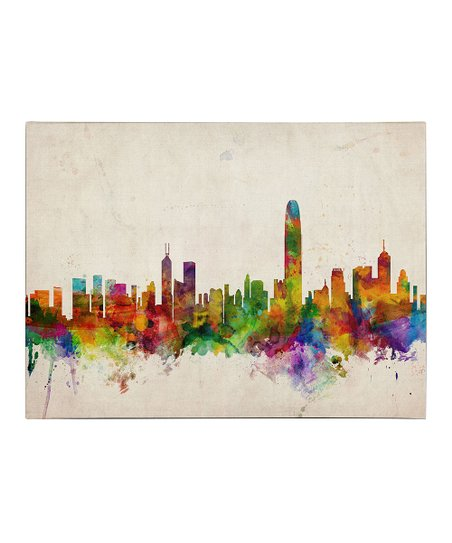 Hong Kong Skyline Gallery-Wrapped Canvas