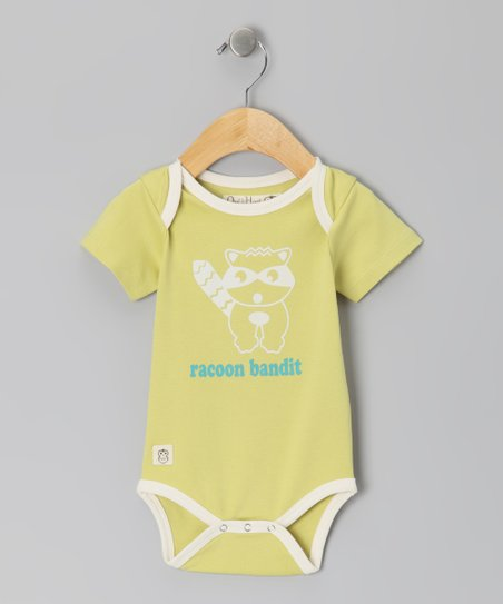 Linden Green 'Raccoon Bandit' Bodysuit - Infant