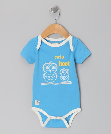 Ocean Blue 'Owl & Hoot' Bodysuit - Infant