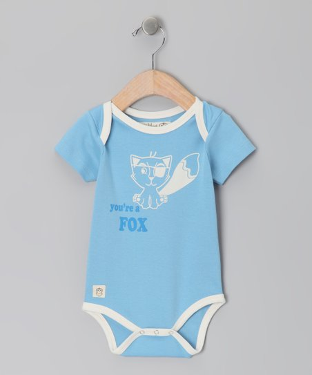 Sky Blue 'You're a Fox' Bodysuit - Infant