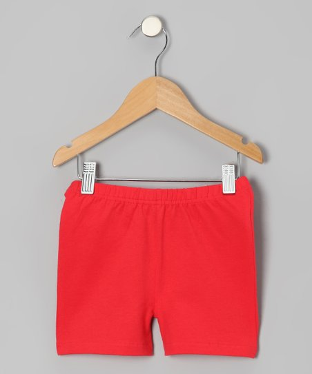 Red Poppy Shorts - Toddler & Girls
