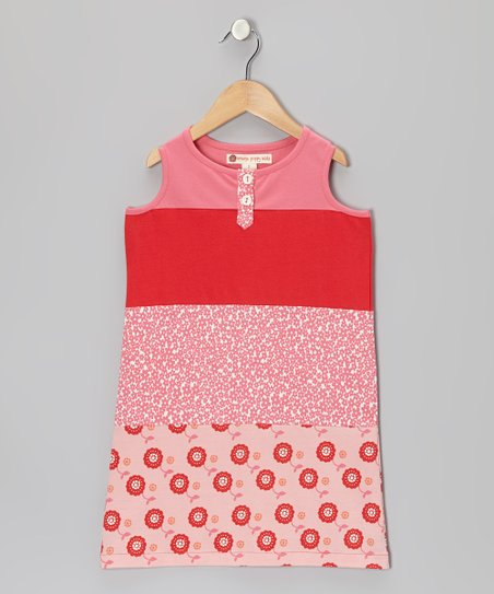 Pink Color Block Shift Dress - Toddler & Girls