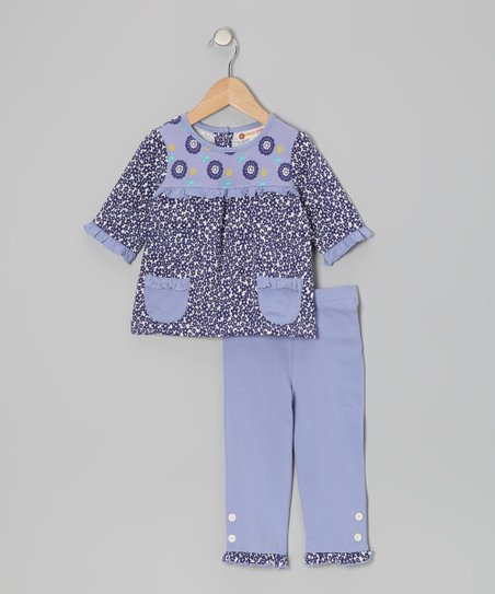 Deep Wisteria Daisy Top & Capri Pants - Infant, Toddler & Girls