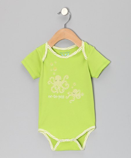 Apple Green 'Octopus' Bodysuit - Infant