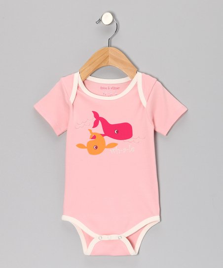 Light Coral Whale Bodysuit - Infant
