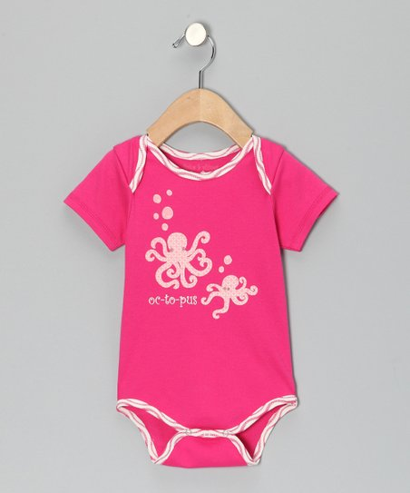 Fuchsia 'Octopus' Bodysuit - Infant