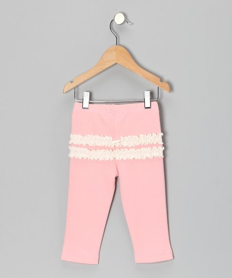 Light Coral Ruffle Leggings - Infant