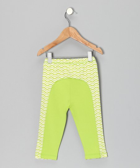 Apple Green Wave Leggings - Infant