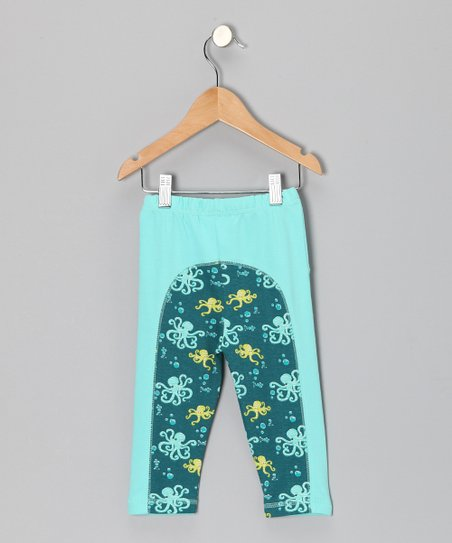 Pool Blue Octopus Leggings - Infant