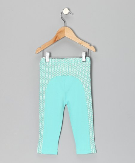 Teal Geometric Leggings - Infant