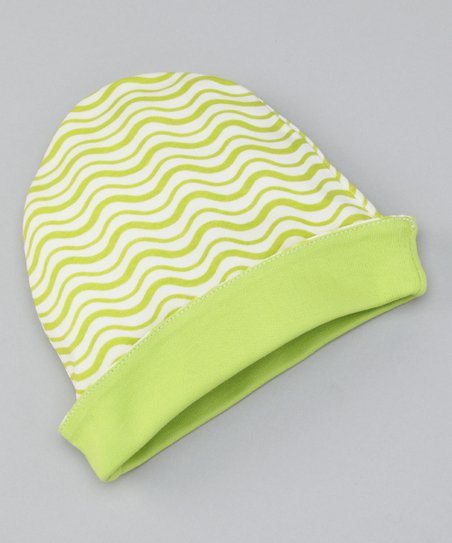 Apple Green Wave Reversible Beanie