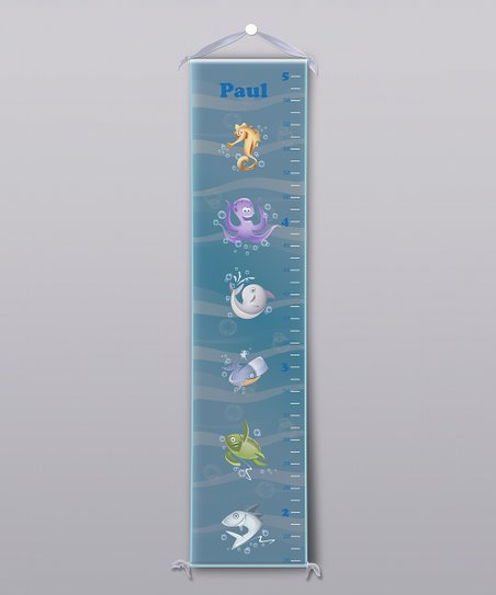 Blue Sea Creatures Personalized Growth Chart