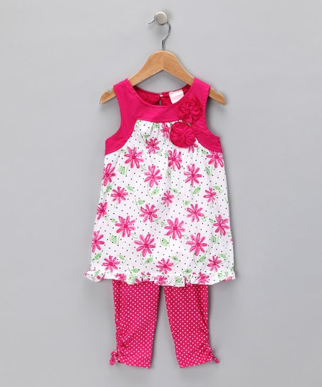 Pink Floral Tunic & Leggings - Toddler
