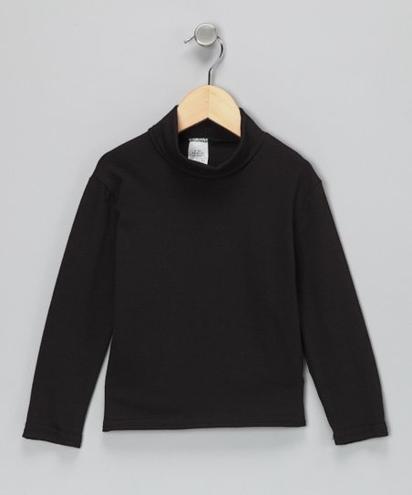 Black Classic Turtleneck - Infant, Toddler &amp; Girls
