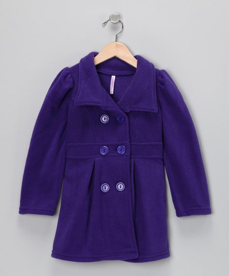 Purple Peacoat - Toddler & Girls