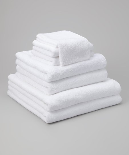 White Cambridge Eight-Piece Towel Set