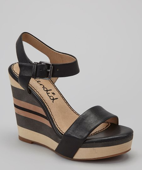 Black Kikka Wedge Sandal