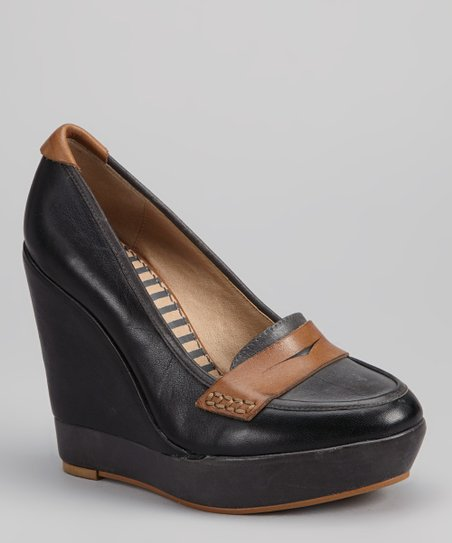 Steel & Tan Logan Loafer Wedge