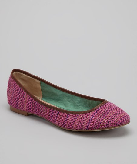 Violet Basketweave Nantucket Ballet Flat