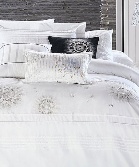 White Delia Duvet Cover Set